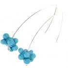 Turquoise Blue Molecule Drop