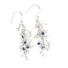 Twist Earrings Sapphire - Medium