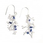 Twist Earrings Sapphire