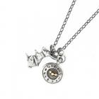 White rabbit & watch necklace