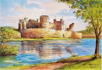 Caerphilly Castle Print