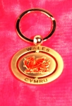 Metal Welsh Keyring