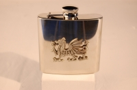 Dragon Badge Hip Flask