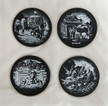 Slate Coasters -Set of 4.