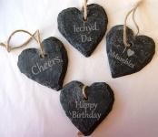 Small slate hearts
