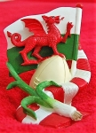 Welsh Flag, Scarf, Leek and Rugby Ball