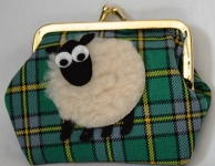 Welsh Tartan Sheep Purse
