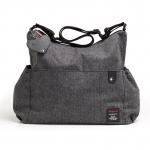 Babymel Big Slouchy Grey Tweed Changing Bag