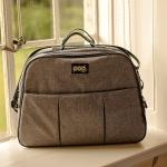 Bizzi Growin Pod Travel Changing Bag - Grey Linen