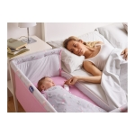 Chicco Next 2 Me Crib in Princess Pink