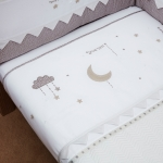 Silver Cross To The Moon & Back Coverlet