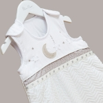 Silver Cross To The Moon & Back Sleepsuit