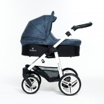 Venicci Denim Blue 3in1 Pram Travel System
