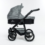 Venicci Denim Grey 3in1 Pram Travel System