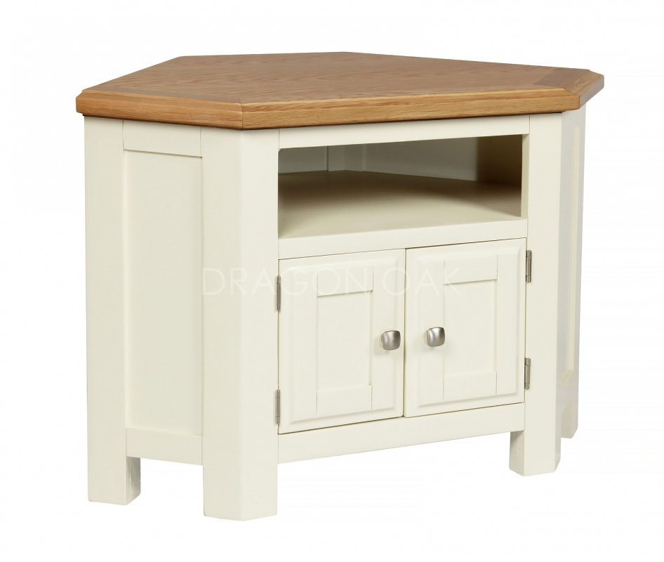Country cream corner tv unit tv cabinets dragon furniture for Meuble country corner