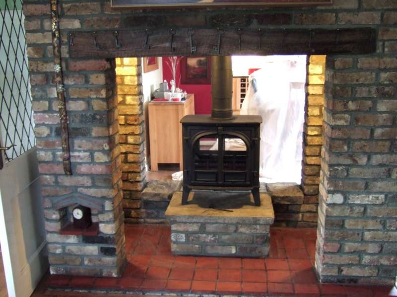Stockton 8 double sided stove fireplaces traditional for Double sided fireplace price