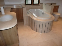 Crema Marfil Family Bathroom