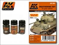AK  WEATHERING SET FOR GREEN VEHICALS #AK64