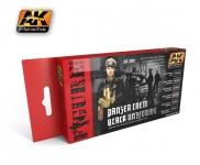 AK BLACK PANZER CREW BLACK UNIFORMS SET #3001