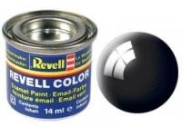 REVELL ENAMEL BLACK GLOSS 14ML (RV32107)