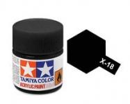 TAMIYA ACRLIC X-18 SEMI GLOSS BLACK