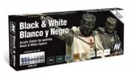 VALLEJO BLACK & WHITE COLOUR SET #70.151
