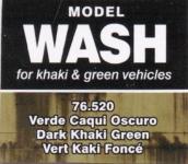 VALLEJO MODEL WASH FOR KHAKI & GREEN VEHICALS # 76-520