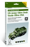 VALLEJO U.S. ARMY OLIVE DRAB AFV PAINTING SYSTEM 78.402