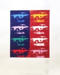 After Andy Warhol - Cars - Mercedes 300 SL Gulwing - Serigraph
