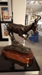 Allen Hallett - Red Hartebeest - Bronze Sculpture