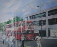 Bus reflected on Kings Road - Georgia Peskett
