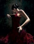 El Baile de Flamenco in Rojo  I - Fabian Perez *SOLD*