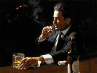 Fabian Perez - Proud To Be A Man III - Framed *SOLD*
