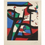 Joan Miro - Dans le Grenier a sel - Original Etching