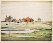 Landscape with Farm Buildings - L. S. Lowry
