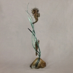 Nicholas Pain - Spiny Seahorses - Sculpture