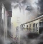 Platform 4 - Tim Shorten  - Framed Original *SOLD*