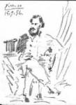 Portrait of Leon Tolstoi - Pablo Picasso