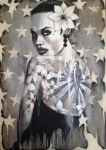 Terry Bradley - Girl with the Angel Tattoo - Illuminapp Frame