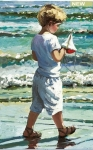 The Red Toy Boat - Sherree Valentine Daines  *SOLD*