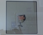 Tony Hart - First Rain, Then Sunshine - Framed Original SOLD