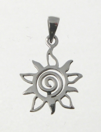 Cm58 sun swirl silver pendants contemporary silver charms cats cm58 sun swirl aloadofball Image collections