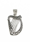WP38 Celtic Harp Pendant