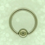 1.6 Surgical steel B.C.R.Sold in packs of 5