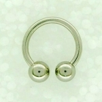 1.6 Surgical steel horseshoes. Sold in packs of 5