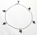 A14 Silver fairy anklet
