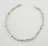 A29 Silver heart anklet