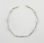 A30 Silver ball anklet