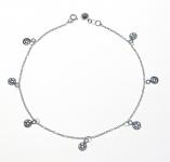 A35 Silver pentagram anklet