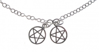 A47 Silver pentagram anklet